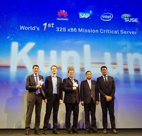 Presentación de los servidores Huawei KunLun en CeBIT 2016