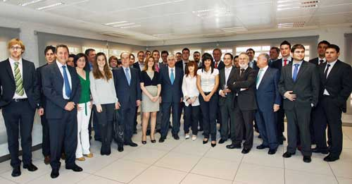 El equipo de EspacioCalatrava junto a José Maía Barreda, Román Rivero y Florencio Lasaga - Foto: Y. Soria JCCM