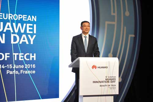 William Xu ofreció la ponencia inaugural del European Huawei Innovation Day