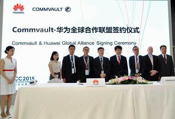Huawei y Commvault firmaron en septiembre de 2015 su alianza global