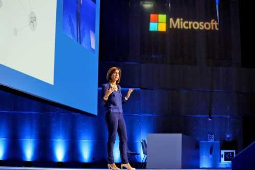 Pilar López durante su conferencia en el Microsoft Summit