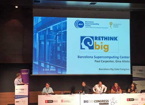 Paul Carpenter durante la presentación de la hoja de ruta de RETHINK big en el Big Data Congress - Foto: BSC