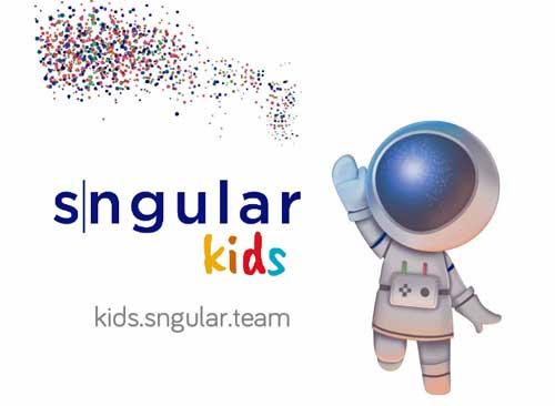 La plataforma SngularKids está basada en un entrono de programación que permite aprender a programar paso a paso encajando bloques de código
