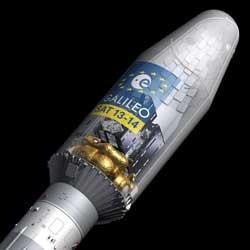 Satélite Galileo en un cohete Soyuz - Foto: ESA