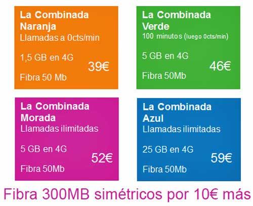 Las tarifas convergentes Azul y Verde de Yoigo estarán disponibles a parir del día 2 y las Morada y Naranja, en febrero