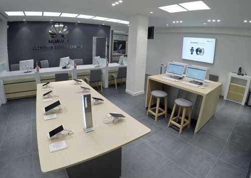 Un espacio de marca que ofrece la experiencia Huawei más completa