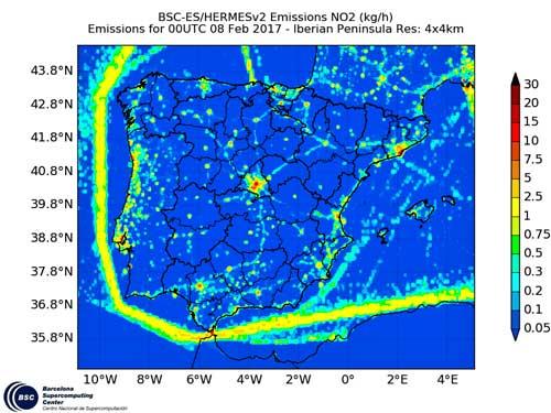 Nature Geoscience destaca la capacidad del sistema CALIOPE para la toma de medidas preventivas sobre la calidad del aire