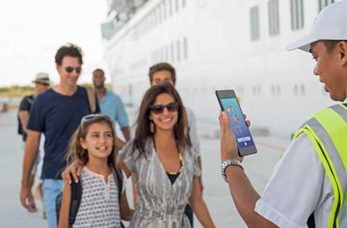 El sistema Ocean Medaillon facilita el rápido embarque en los cruceros