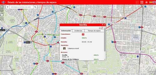 La aplicación de Esri ofrece información sobre instalaciones y servicios de las estaciones de Metro de Madrid