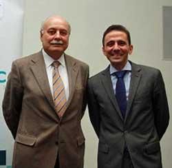 Gonzalo Macías (a la izda.) con David Nieto