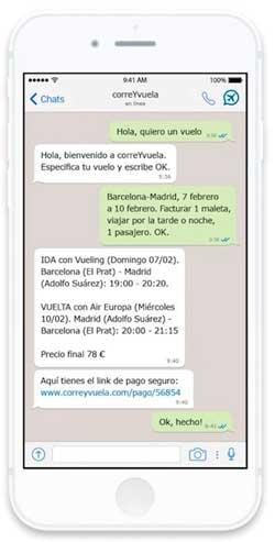 correYvuela vende billetes de avión a través de aplicaciones