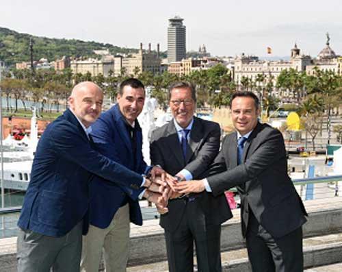 De izquierda a derecha, Miguel Planas, Miguel Vicente, Antonio Vila y Jordi Nicolau