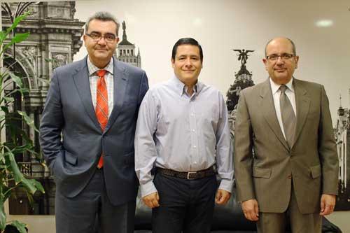 De izda. a dcha: Antonio de Lucas, Gabriel López y Alfonso Rubio