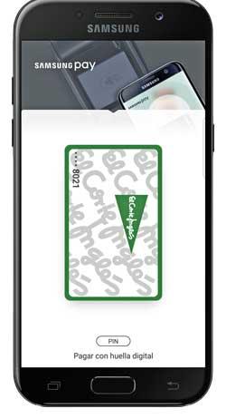 Galaxy A5 con la tarjeta de compra de El Corte Inglés