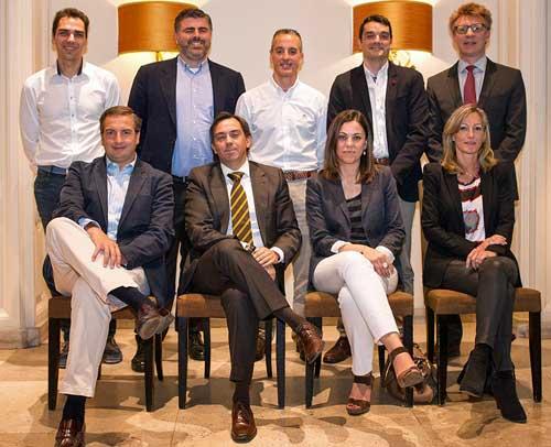 De izquierda a derecha, arriba: Marcos Fargas, Carlos Moliner, José Javier Romero, Eduardo Zorrilla y Maurice Graessner. Abajo: Antonio Raimondo, Juan Carlos Lozano, Maria Jesús Llorente y Margarita Mencía