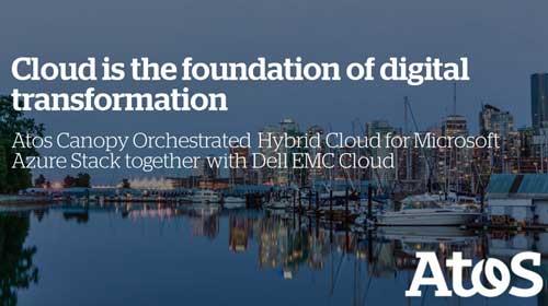 La experiencia combinada de Atos, Dell EMC y Microsoft de esta oferta permite a las empresas crear de forma sencilla y rápida una implementación de cloud híbrida basada en Azure Stack