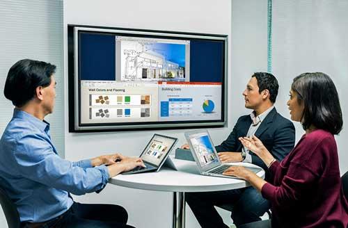 Polycom Pano se conecta a cualquier pantalla y permite el uso compartido de contenido de forma inalámbrica desde PCs, Macs, tabletas y móviles