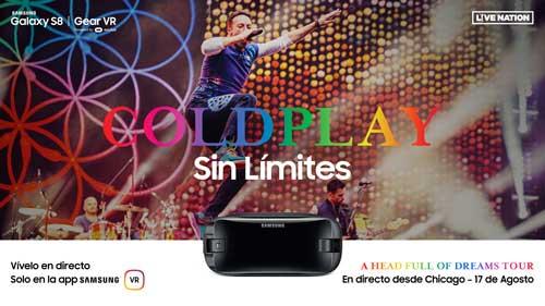Samsung y Live Nation retransmiten hoy un concierto de Coldplay en realidad virtual y en directo