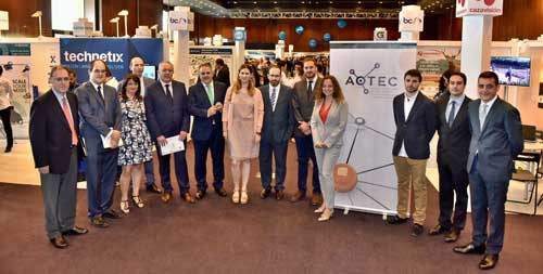 En la jornada de inauguración de la feria tecnológica de  AOTEC han participado Virginia Rodríguez, Jordi Fornells y José María Moragón