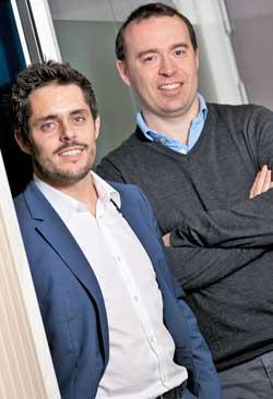 Romain Le Merlus (a la izda.) con Julien Mathis