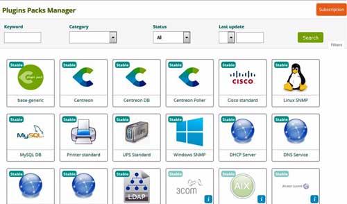 El Plugin Pack Manager de Centreon IMP es una una consola fácil de usar e intuitiva