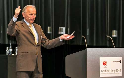 El neurocientífico Dr. Uwe Genz puso la rúbrica a Comparting 2014 y retó a los asistentes a descubrir las últimas técnicas de memoria y aprendizaje
