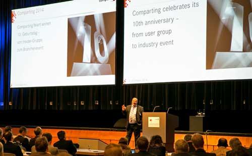 Harald Grumser, CEO de Compart, durante la inauguración de Comparting 2014