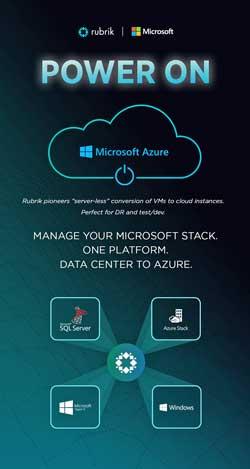 Rubrik puede coordinar todas las funciones de gestión de datos para todas las aplicaciones de Microsoft