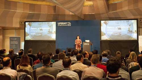 Carolina Moreno durante la inauguración de la pasada edición del Symposium Liferay
