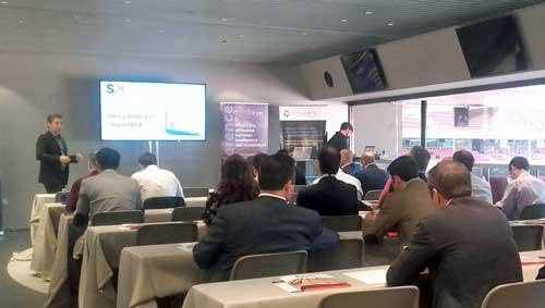 Igor Unanue durante su presentación