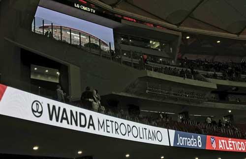 El nuevo Wanda Metropolitano cuenta con un ribbon board dinámico de 530 metros