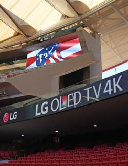 LG y el club Atlético de Madrid estrenan en el Wanda Metropolitano una nueva era de la tecnología en recintos deportivos