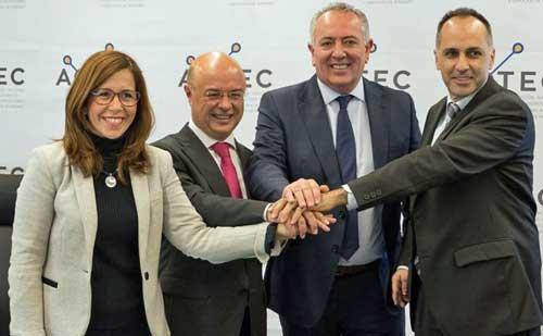 Ana Belén Castejón, Andrés Carrillo, Antonio García Vidal y Alejandro Díaz tras la presentación - Foto: Ayuntamiento de Cartagena