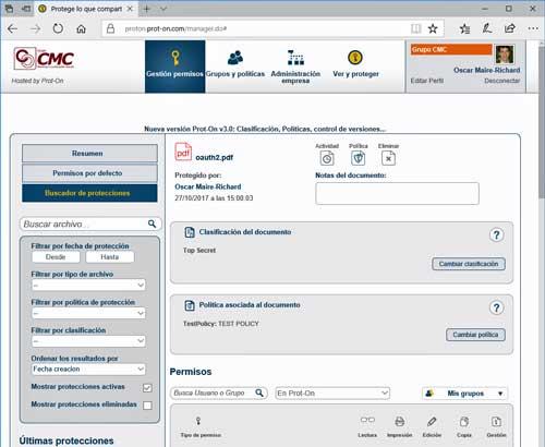 Prot-on 3.0 facilita la implementación de políticas DLP