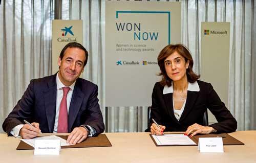 Gonzalo Gortazar y Pilar Lopez durante la convocatoria de los premios WonNow