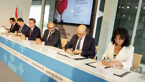 El convenio ha sido firmado por Román Rodríguez, Mar Pereira, Raúl Ripio y José Luis Albo en un acto presidido por Alberto Núñez Feijóo y Fernando Abril-Martorell
