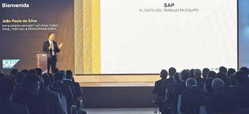 João Paulo da Silva durante su presentación, en la que calificó 2017 como un buen años para SAP y sus partners