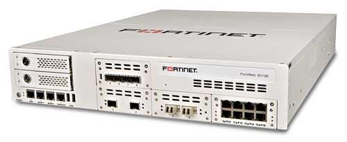 El modelo FortiWeb 3010E de Fortinet