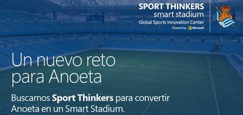 Microsoft Sports, GSIC y la Real Sociedad convierten Anoeta en 'Smart Stadium'. Diez startups participarán en el proyecto