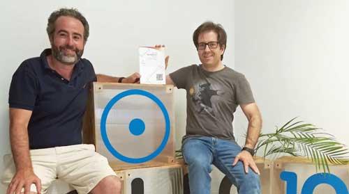 José Luis Cáceres (a la izda.) y Diego Martín, creadores de Blocknap