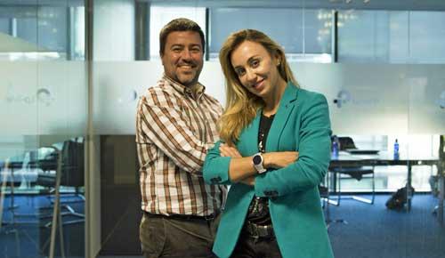 Montse González con Javier de la Asunción