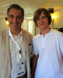 Alfredo Redondo con Alejandro García