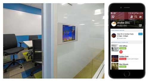 La categoría de Espacios de Trabajo inteligentes de Aruba proporciona experiencias de trabajo de última generación que soportan IoT y automatización de edificios