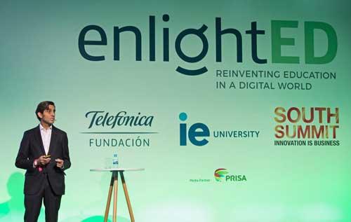 José María Álvarez-Pallete durante su participación en EnlightED