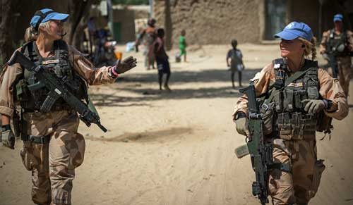 Tropas de paz de la ONU en Timbuktú - Foto: ONU/Harandane Dicko