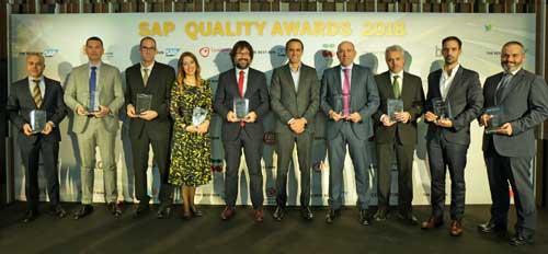 Premiados en la edición de 2018 de los SAP Quality Awards
