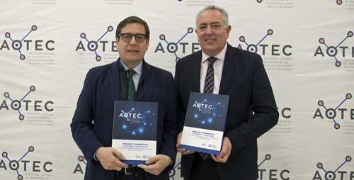 Antonio Duréndez Gómez-Guillamón y Antonio García Vidal con el informe