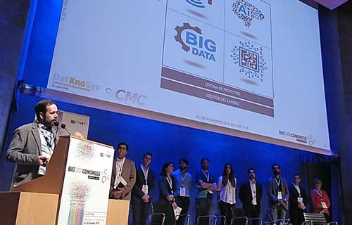 Juan Francisco García durante su participación en Big Data Congress