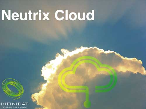 Neutrix Cloud puede implementarse como producto independiente o sobre cabinas InfiniBox con un modelo híbrido, con un RPO inferior a 4 segundos