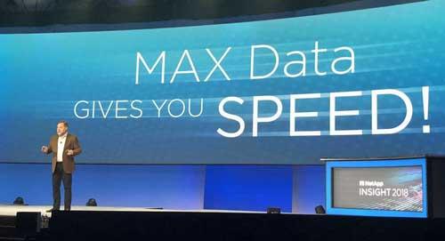 Joel Reich en la presentación de MAX Data en Insight 2018